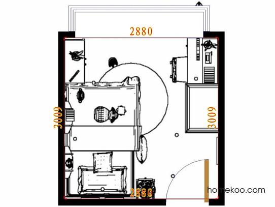 平面布置图德丽卡系列青少年房B10655