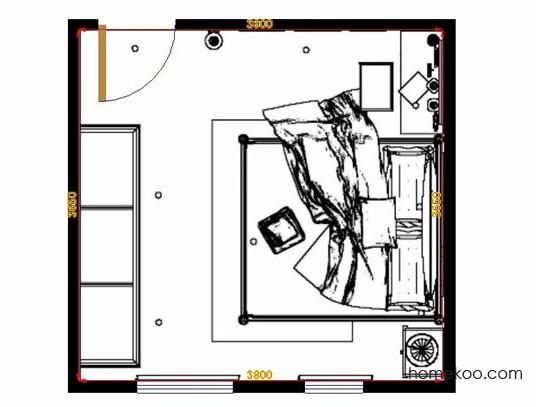 平面布置图柏俪兹系列卧房A10832