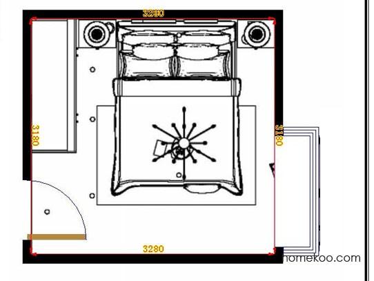 平面布置图乐维斯系列卧房A10839