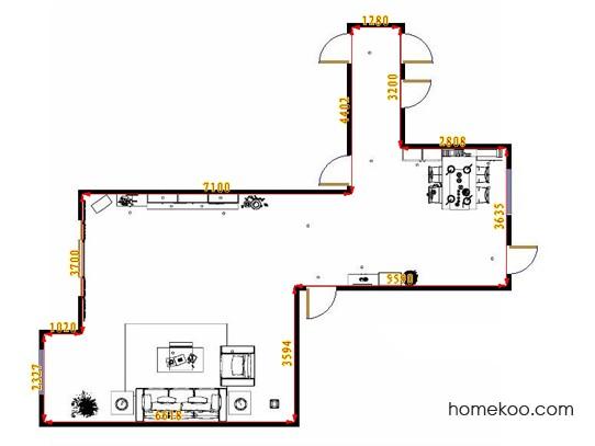 平面布置图斯玛特系列客餐厅G9256