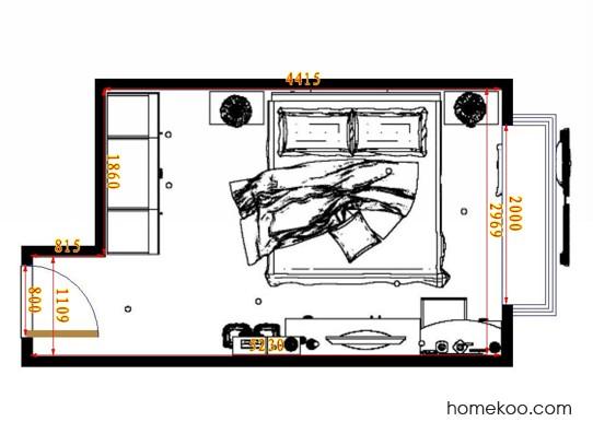 平面布置图贝斯特系列卧房A10858