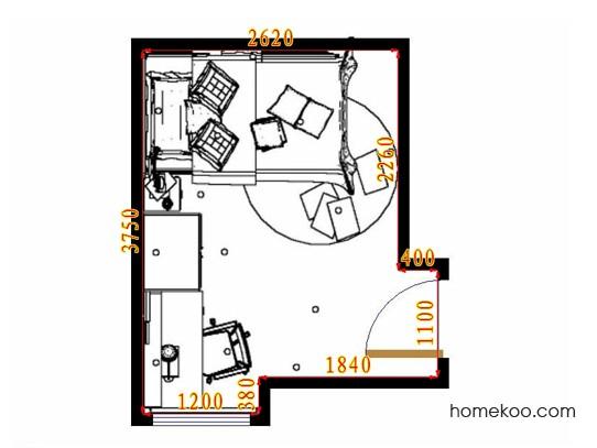 平面布置图斯玛特系列青少年房B10664