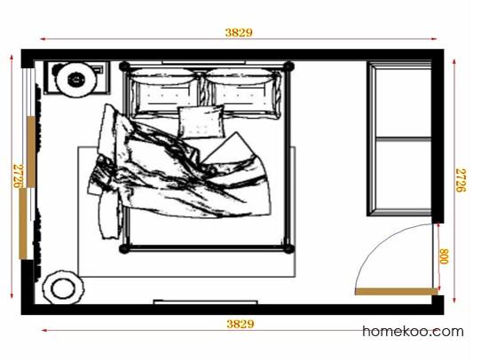 平面布置图柏俪兹系列卧房A10873