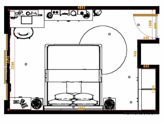 平面布置图乐维斯系列卧房A10876