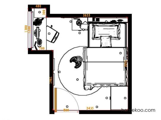 平面布置图斯玛特系列青少年房B10682