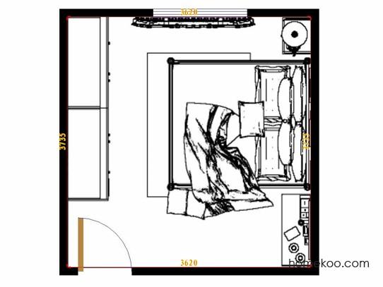 平面布置图格瑞丝系列卧房A10883