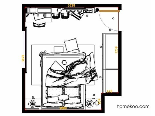 平面布置图乐维斯系列卧房A10885