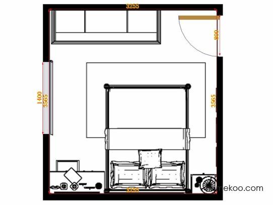 平面布置图柏俪兹系列卧房A10887