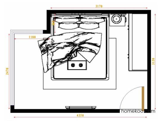 平面布置图德丽卡系列卧房A10890