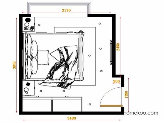 平面布置图格瑞丝系列卧房A10892