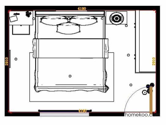 平面布置图柏俪兹系列卧房A10912