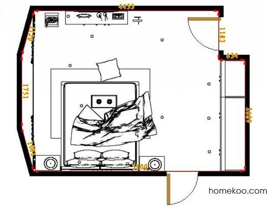 平面布置图格瑞丝系列卧房A10914