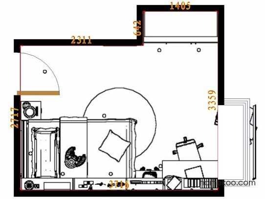 平面布置图格瑞丝系列青少年房B10747