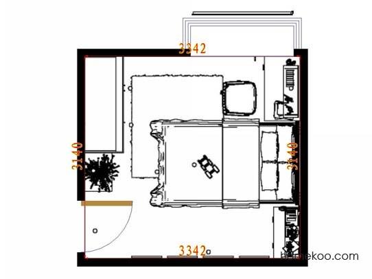 平面布置图斯玛特系列青少年房B10766