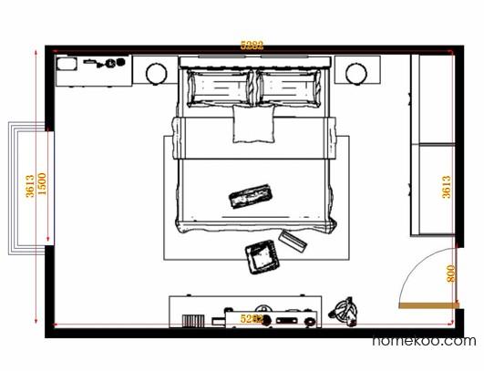 平面布置图贝斯特系列卧房A10979