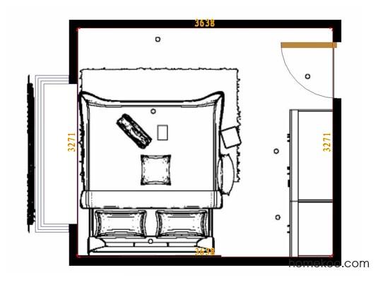 平面布置图斯玛特系列卧房A10990