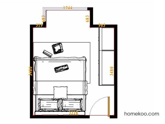 平面布置图柏俪兹系列卧房A10993
