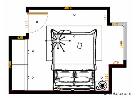 平面布置图斯玛特系列卧房A10994