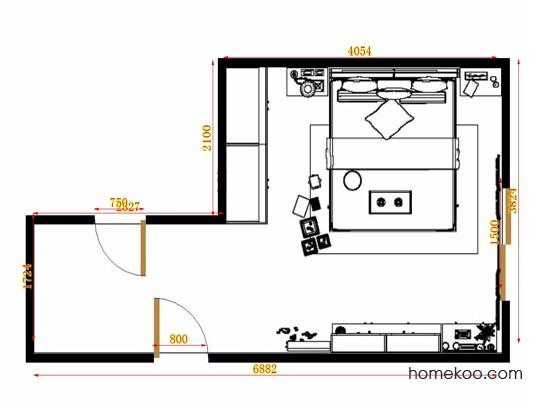 平面布置图贝斯特系列卧房A11007