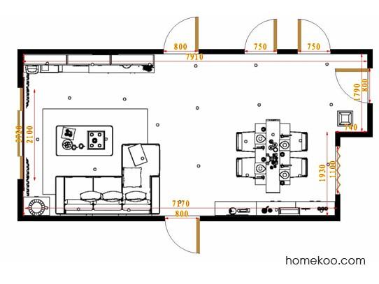 平面布置图格瑞丝系列客餐厅G9315