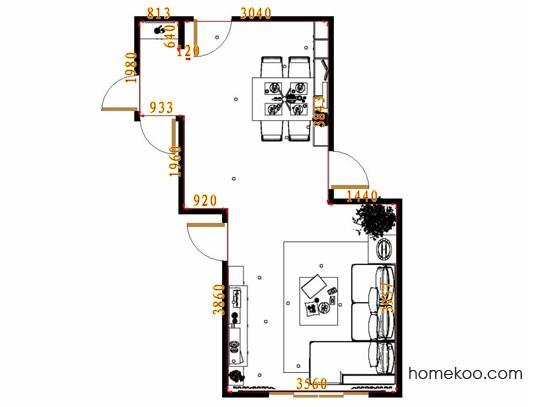 平面布置图乐维斯系列客餐厅G9323