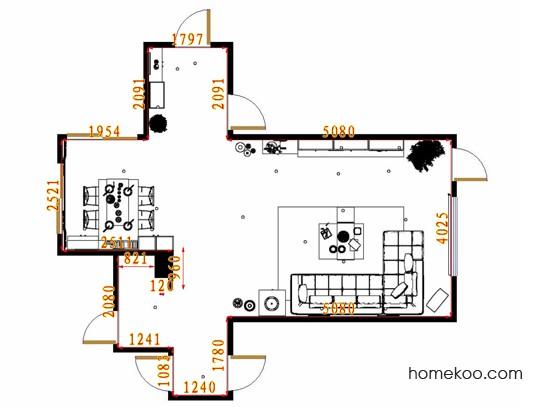 平面布置图柏俪兹系列客餐厅G9329