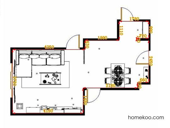 平面布置图乐维斯系列客餐厅G9339