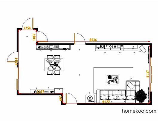 平面布置图柏俪兹系列客餐厅G9342