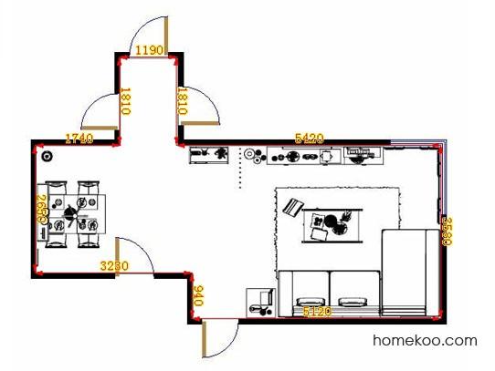 平面布置图柏俪兹系列客餐厅G9355