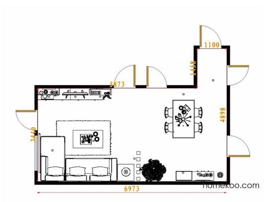 平面布置图斯玛特系列客餐厅G9361