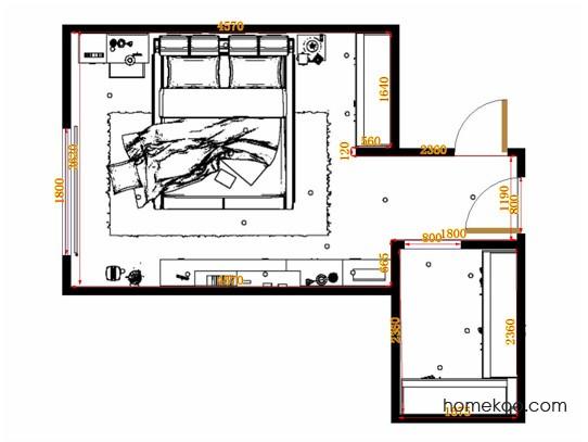 平面布置图斯玛特系列卧房A11249