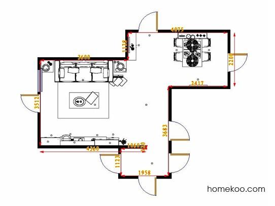 平面布置图斯玛特系列客餐厅G9385