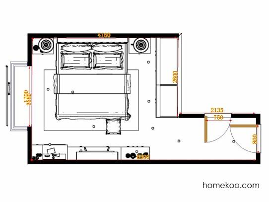 平面布置图贝斯特系列卧房A11332