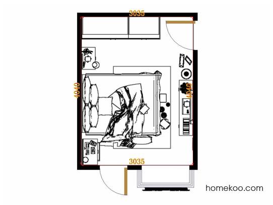 平面布置图斯玛特系列卧房A11370