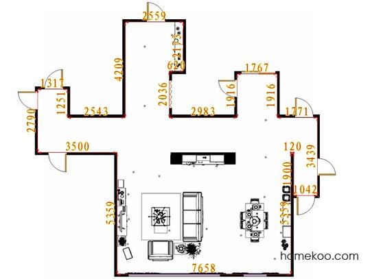 平面布置图格瑞丝系列客餐厅G9434