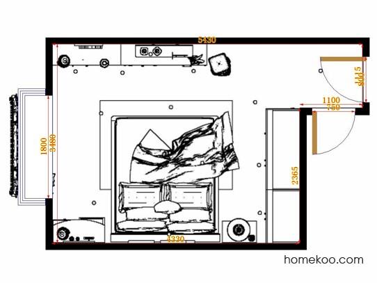 平面布置图贝斯特系列卧房A11444
