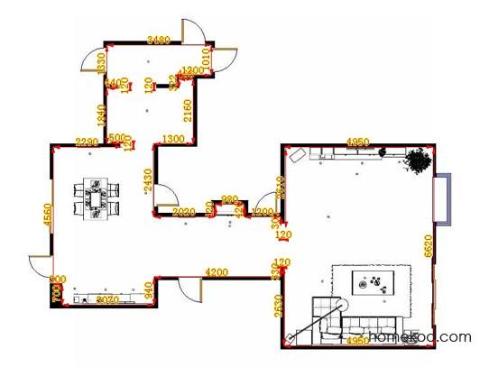 平面布置图乐维斯系列客餐厅G9437