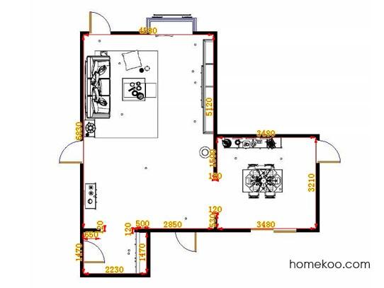 平面布置图格瑞丝系列客餐厅G9438