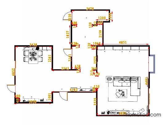 平面布置图贝斯特系列客餐厅G9444