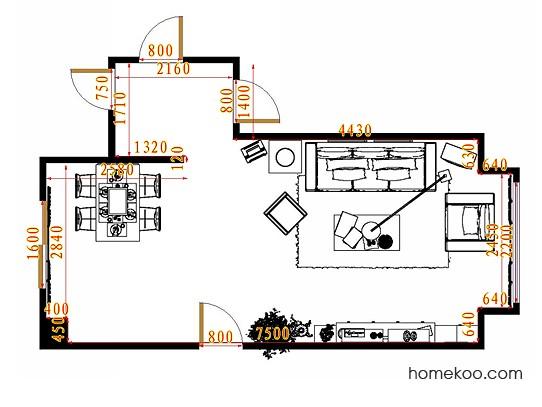 平面布置图乐维斯系列客餐厅G9451