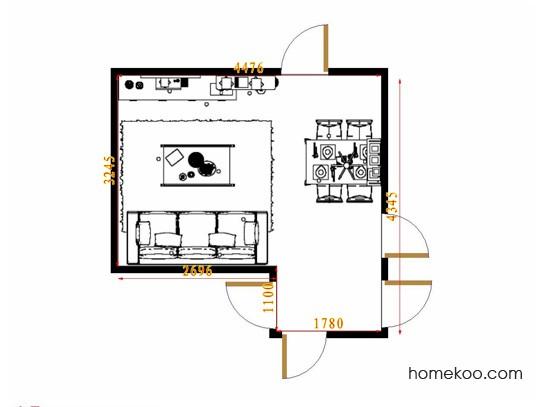 平面布置图贝斯特系列客餐厅G9464