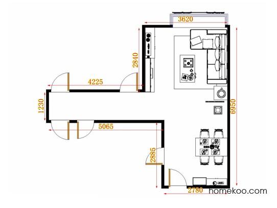平面布置图格瑞丝系列客餐厅G9473