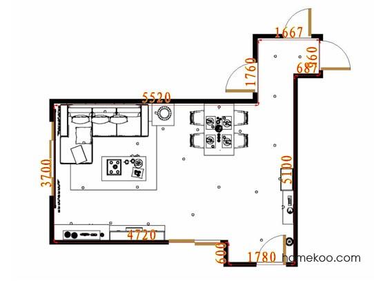 平面布置图斯玛特系列客餐厅G10523