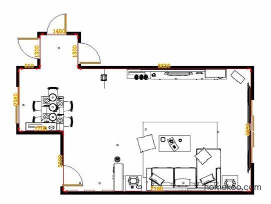 平面布置图贝斯特系列客餐厅G10529