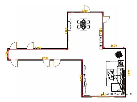 平面布置图格瑞丝系列客餐厅G10532