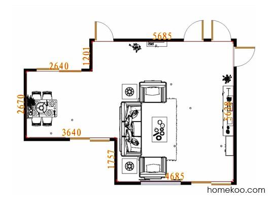 平面布置图乐维斯系列客餐厅G10568