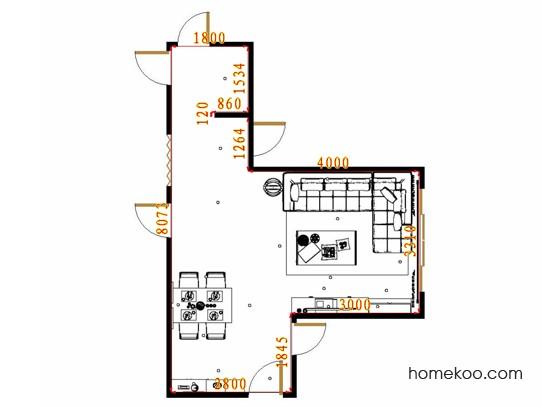 平面布置图德丽卡系列客餐厅G10571