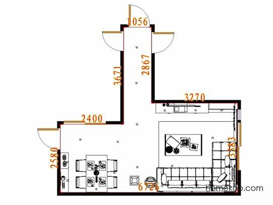 平面布置图贝斯特系列客餐厅G10581