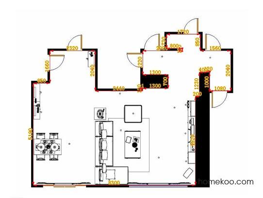 平面布置图斯玛特系列客餐厅G10625