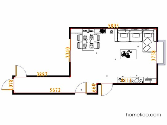平面布置图柏俪兹系列客餐厅G10653